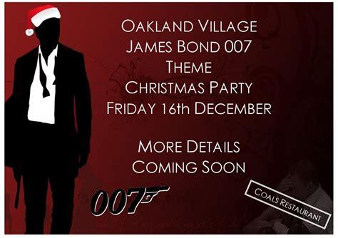 oakland village james bond theme christmas party