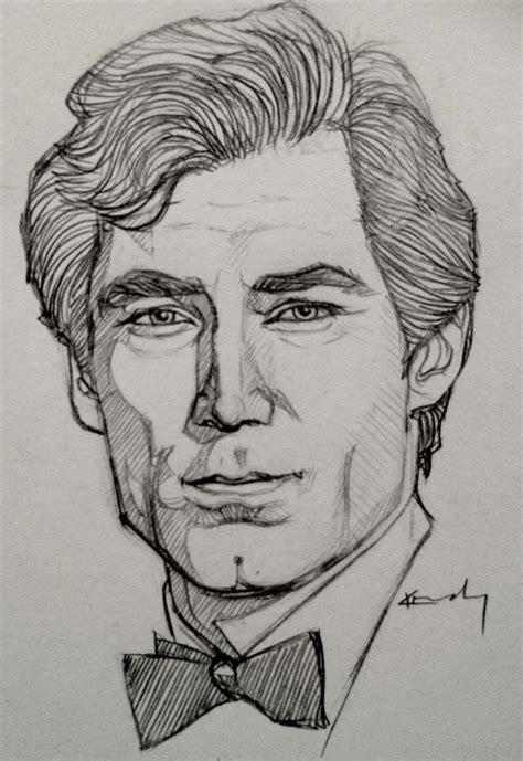 how to do sketching portrait sketch timothy dalton by ktgay on deviantart
