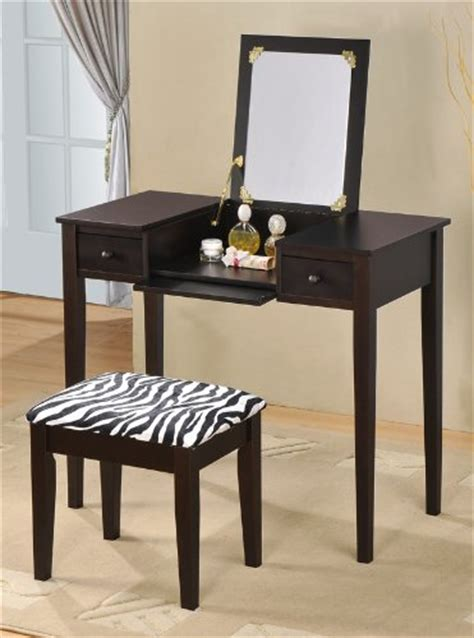 black vanity set with zebra bench vanity sets with stool seat for teenagers