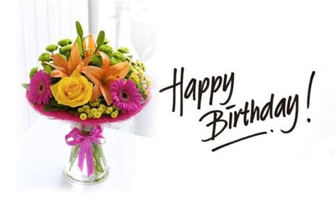 Happy Birthday Wishes With Roses Happy Birthday Flower Images With Cake Flower Cake Pictures