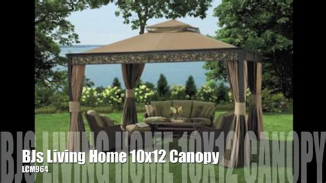 living home gazebo bjs living home 10x12 gazebo replacement canopy