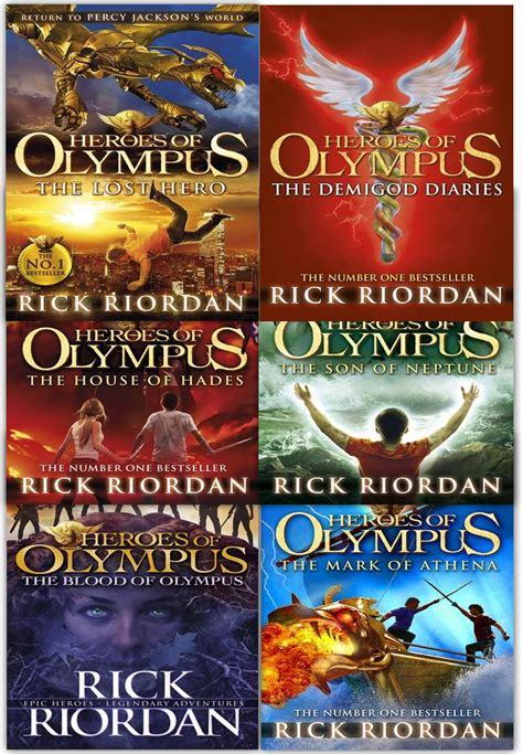 blood the rick cahill series books heroes of olympus collection rick riordan 6 books set