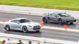Nissan Gtr Vs Lamborghini 1600hp Nissan Gt R Lambo Killer 1320video