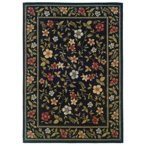7 ft area rugs weavers evanston gabriel black 7 ft 10 in x 10 ft area rug 288908 the home depot