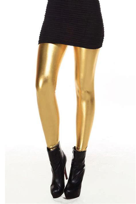 imagenes de latex leggings metallic wet look liquid leggings shiny stretch women