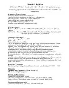 Telephone Technician Cover Letter by Telecommunications Technician Free Resumes