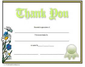 Thank You Certificate Templates Free by Thank You Certificate Template Free Myideasbedroom