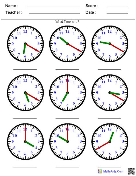 Telling Time Worksheet by Time Worksheets Time Worksheets For Learning To Tell Time