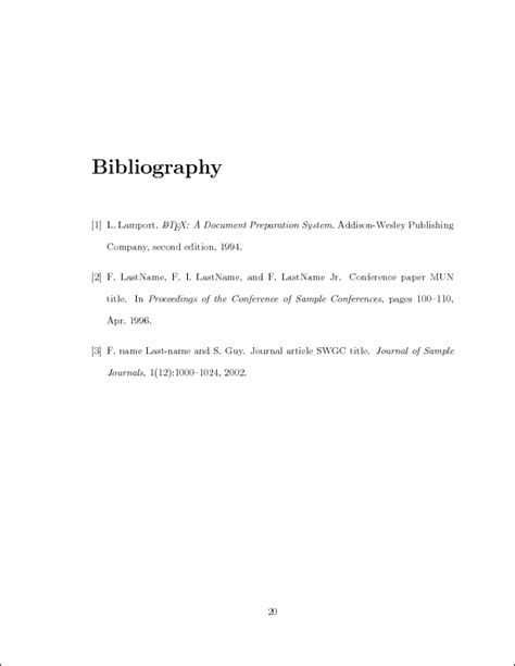 exle of bibliography in thesis sle thesis template