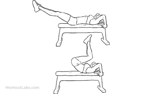 bench crunch reverse bench crunch illustrated exercise guide workoutlabs