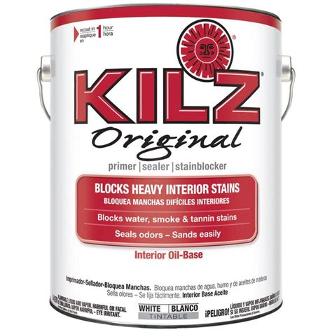 home depot paint with primer included kilz original 1 gal white based interior primer