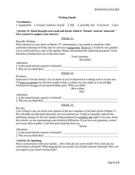 business letter class activities 33 free email worksheets