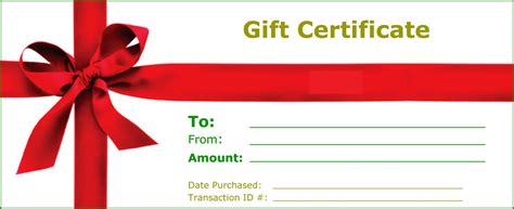 Gift Certificate Templates To Print Activity Shelter Printable Gift Certificate Template