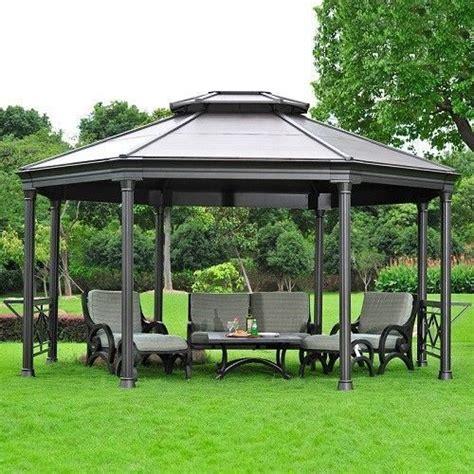 outdoor aluminium gazebo garden patio pergola sun shade