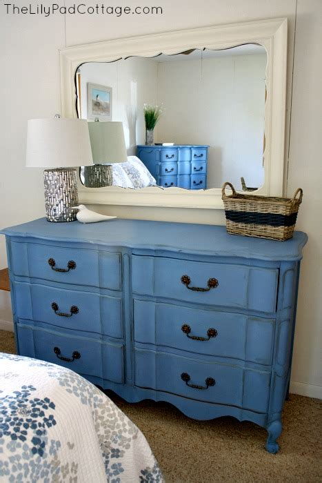 blue furniture makeover and the cottage that started it all the lilypad cottage