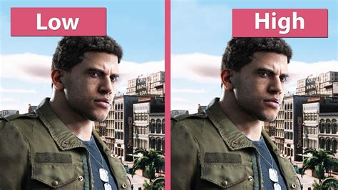 Mafia 3 Pc mafia 3 pc low vs high graphics comparison