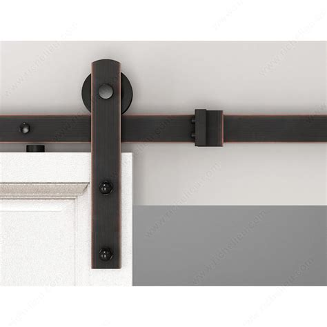 Zen Glide Brushed Oil Bronze Single Barn Door Hardware Rubbed Bronze Barn Door Hardware