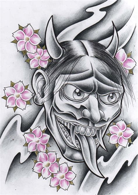 hannya mask tattoo deviantart evil hannya mask by willemxsm on deviantart