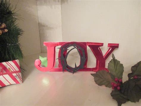paper stand up quot joy quot christmas decoration