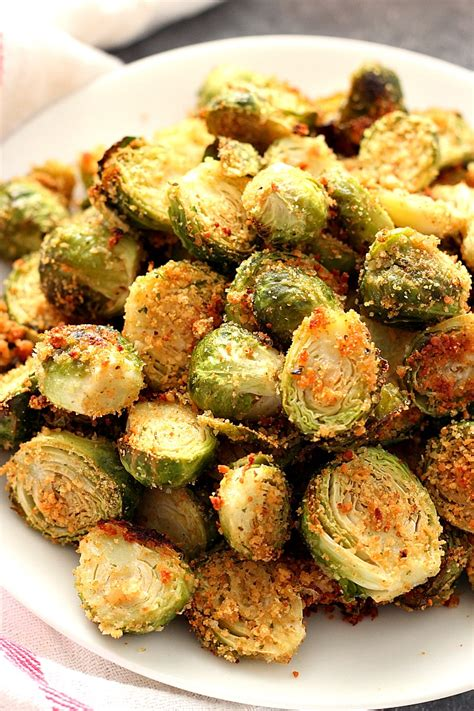 parmesan roasted garlic parmesan roasted brussels sprouts recipe card