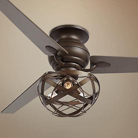 caged hugger ceiling fan 60 quot spyder bronze orbital weave hugger ceiling fan