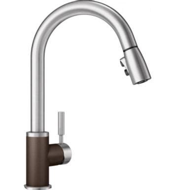 blanco sonoma single handle pull down sprayer kitchen faucet in stainless 441647 the home depot blanco 442064 sonoma 2 2 gpm single handle kitchen faucet