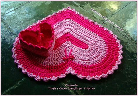 Pinterest Home Decor Ideas Diy by How To Crochet Heart Shaped Rug And Basket In One Www