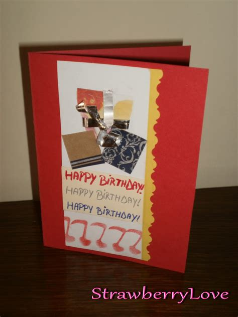 Handmade B Day Cards - strawberry by reny handmade b day cards