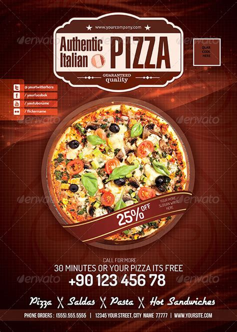 pizza restaurant psd flyer by konfikkonfik graphicriver