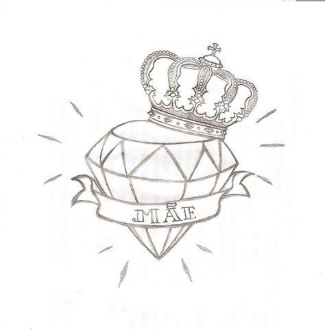 tattoo diamond drawing tattoo diamond tattoo crown drawing and tattoo designs