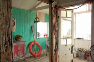 Blue and red rustic beach house panda s house