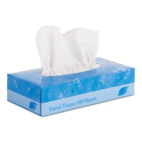 Box Tissue Mobil 8 tissue flat box 2 ply 8 quot x 8 3 quot 100 box 30 boxes jet