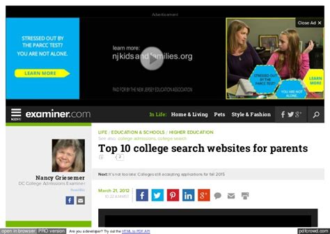 Top Search Websites Unigo The Examiner Top 10 College Search Websites For Parents