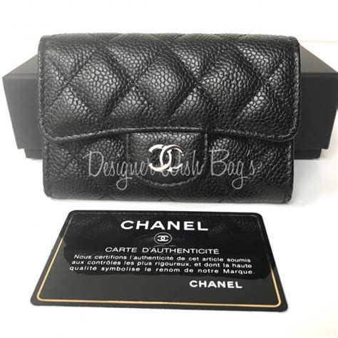 Card Holder Chanel chanel wallet card holder caviar