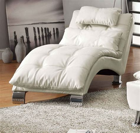 coaster chaise lounge coaster dilleston chaise white 550078 at homelement com