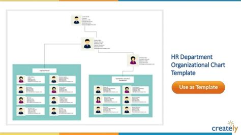 Organizational Chart Templates By Creately Department Organizational Chart Template