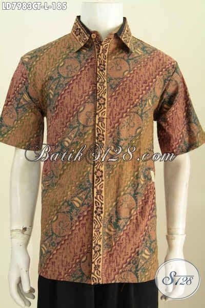 Hem Batik Jawa hem batik jawa tengah halus lengan pendek size l baju