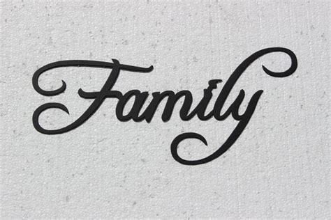 family word decorative metal wall home by