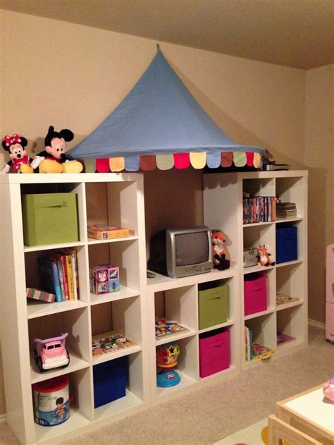playroom storage containers playroom shelving expedit shelves and awning from ikea