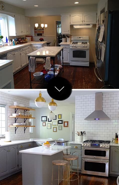 design sponge kitchen before after a new jersey kitchen gets a touch of