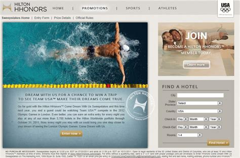 Hilton Sweepstakes - hilton sweepstakes for london 2012 olympics and u s trials loyalty traveler
