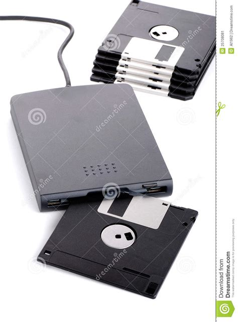 Disk Reader external floppy disk reader stock image image 25708081