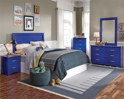 blue bedroom furniture bright blue three or five bedroom suite leo blue