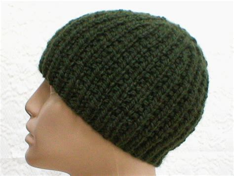 green knit beanie olive green knit beanie hat ribbed beanie reversible by