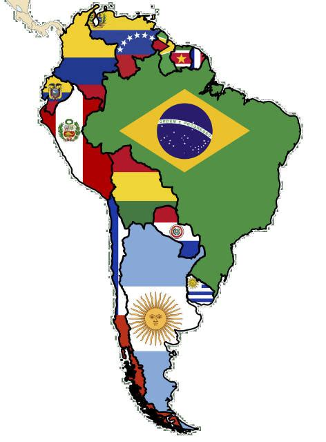south america map and flags great international resources for students teachers