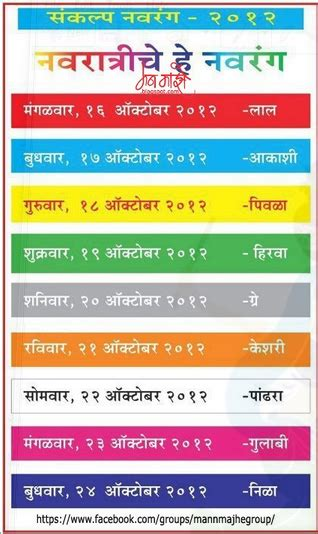 navratri colors happy navratri 2015 colours dates date wise list of