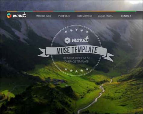 muse themes video background 40 best responsive adobe muse templates webdesignerhub com