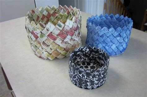 How To Make A Paper Weave Basket - woven paper basket