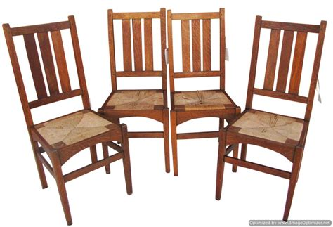 Stickley Dining Chairs Great Antique Set Of 4 Gustav Stickley Dining Chairs W3338 Joenevo