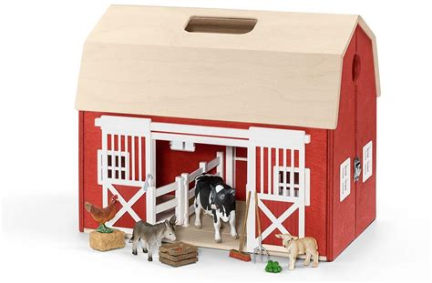 schleich transportable scheune take your favorite schleich animals anywhere you go with